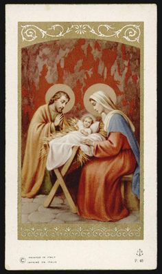 "santino-holy card""""ediz. FB serie P n.48 NATIVITA'"