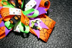 Halloween Stacked Boutique Bow by LAbowsandclothes on Etsy