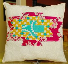 Aztec Pillow- Created by Liz Hicks. To learn more about the features and capabilities of ScanNCut by Brother™, visit www.ScanNCut.com.