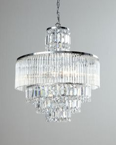 Rossborough Crystal Chandelier & Cord Cover by Designer Cords at Horchow. Crystal Chandelier Lighting, Chandelier Lamp, Modern Chandelier, Home Lighting, Lighting Design, Crystal Lights, Crystal Lamps, Glass Crystal, Bubble Chandelier