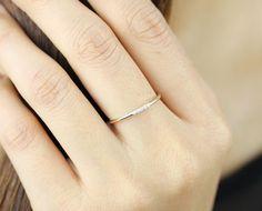 Pave Diamond Wedding Ring Thin Diamond Wedding by KHIMJEWELRY