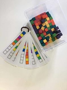 Use connecting cubes Early Childhood Activities, Classroom Projects, Practical Life, Worksheets For Kids, Educational Activities, Speech Therapy, Preschool Activities, Cube, Numbers