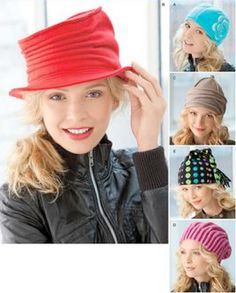 FLEECE HAT Sewing Pattern  Misses Hats  5 Styles 3 Sizes ~ SOLD!