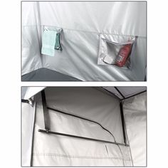 5 gal 2 Room Solar Heated Shower Tent w/ Towel Rack Camping Bath Hiking Hygiene  #OzarkTrail