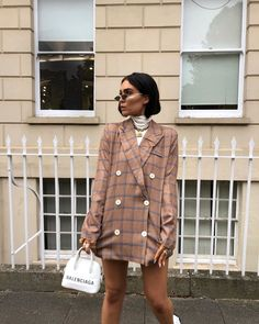 """Alicia Roddy on Instagram: """"Layering blazers for winter. Wearing @shein_gb code 15LISSY #SHEIN"""" 2 Piece Outfits, Chic Outfits, Fashion Outfits, Skort Outfit, Trail Blazers, Girl Poses, Style Me, Shirt Dress, Blouse"""