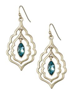 Scallop Drop Earrings by Danielle Stevens on @HauteLook