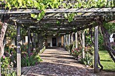 San Luis Obispo Mission Garden. A lot of local concerts and events are held in the Mission Plaza. #MyHometownPins