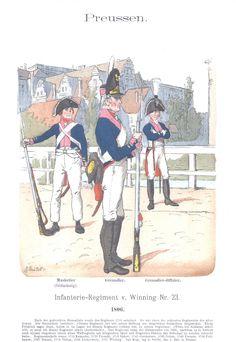 Vol 06 - Pl 51 - Preußen. Infanterie-Regiment v. Winning Nr. 23. 1806.