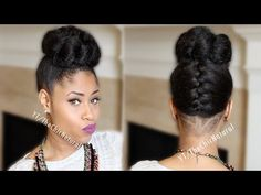 Fab French Braided Bun Updo [On Natural Hair] - YouTube