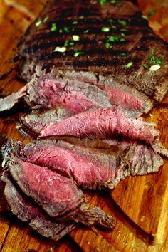 Spicy Asian Grilled Flank Steak by parsleysagesweet #Beef #Flank_Steak #Asian