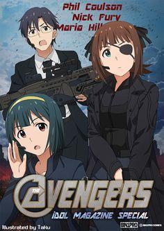 Idolmaster x Avengers, Producer, Kotori & Haruka, by たく(taku)