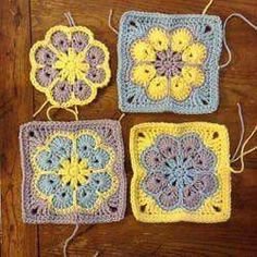 Crochet Granny Square Patterns WIP Sunday - What's on Your Hook? Week 2 Entry African Flower with 8 Petals (Square) by Nicole Hancock Free Pattern Crochet Squares Afghan, Crochet Motifs, Granny Square Crochet Pattern, Crochet Granny, Crochet Blocks, Granny Squares, Blanket Crochet, Hexagon Crochet, Crochet Doilies