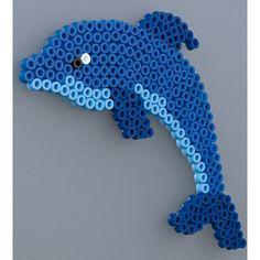 delfin con hama beads, hama mini, perler, etc