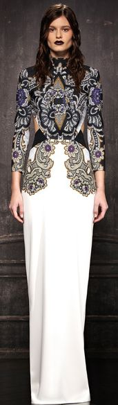 If I were a model, I'd never be this miserable in such a beautiful dress! --Just Cavalli 2013