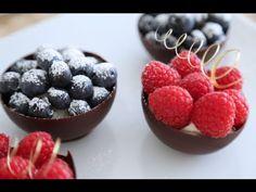 Taças de chocolate para o Dia dos Namorados