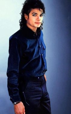 BAD Era: Dark blue long button up sleeve shirt and black slacks....damn sexy!!