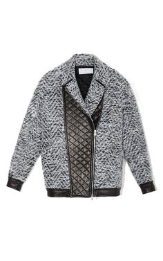 Thakoon Addition Quilted Leather Panel Jacket