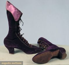 I don't know under what circumstances I'd actually need vintage 1890s purple velvet lace up boots, but they're kind of fabulous anyway.