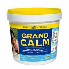 Grand Calm for Horses by Grand Meadows by Grand Meadows. $29.95. Grand Calm is a unique calming supplement that contains5,762 mg of magnesiumfrom4 different sources along withthe amino acid Theanine to help your horse feel more relaxed. This formula also contains500 mg of Vitamin B-1 (Thiamine) for well-rounded nervous system support.Grand Calmmay bebeneficial forhorses that are tense, spooky and inattentive. Easy-to-feed pelleted form!