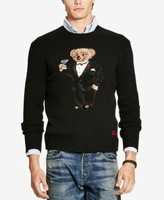 6bf38d7225bf Polo Ralph Lauren Men s Polo Bear Crew Neck Sweater Men - Sweaters - Macy s