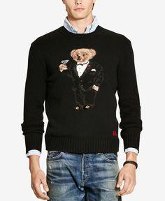 532b860ff1a8c lauren ralph lauren coat wool-cashmere-blend military mens ralph lauren  polo bear sweater