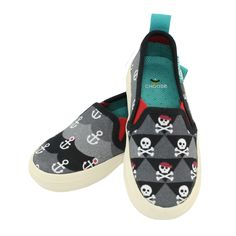 Move Shoes - Treasure | Minnows & Guppies #boys #Chooze #pirate #nautical #anchor