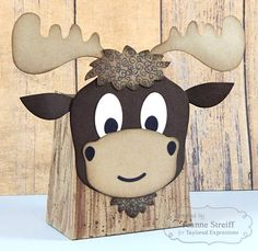 Moose Sack It Gift Bag by Jeanne Streiff #GiftGiving, #SackittoYou, #TE, #ShareJoy