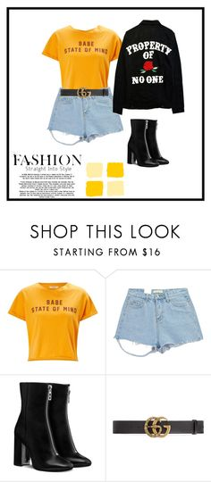 """Sem título #113"" by andick on Polyvore featuring moda, Miss Selfridge, Chicnova Fashion e Gucci"