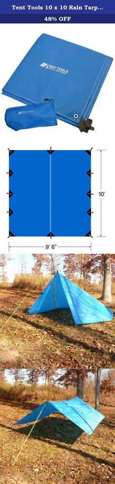 Tent Tools 10 x 10 Rain Tarp - Premium Camping Survival Tarp (Blue, 10 x 10-Feet). Mother nature is upredictable with intense sun, rain, wind, and snow just around the corner. The last thing you want is to be caught unprotected. That's why we've tested the Tent Tools Force Sheild tarps under real life conditions. We've used these on family campouts with rain that colapsed our tent and backpacking trips in high wind. My family tests these so your family will be protected. So DON'T BUY OUR...