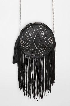 Ecote Circular Fringe Crossbody Bag  #UrbanOutfitters