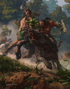 Battle in  Ashenvale, Stanton Feng on ArtStation at https://www.artstation.com/artwork/NOqqb