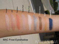 Mac frost eyeshadows 3 karlasugar.net