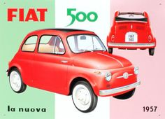 A poster for the Fiat 500. I simple poster, and yet very decrotive