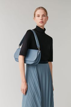 Designed from leather with a cotton lining, this shoulder bag is a stylish addition to the modern wardrobe. + Cow leather, Lining: Cotton + x x + Cow leather, Lining: Cotton + Product No: 0809140001 Cos Bags, Shopping Totes, Modern Wardrobe, Blue Bags, Cow Leather, Leather Shoulder Bag, Purses And Bags, Cashmere, Cold Shoulder Dress