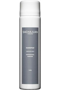 """28 Blogger-Approved Beauty Buys  #refinery29  http://www.refinery29.com/san-francisco-beauty-bloggers#slide15  Pick 3: Sachajuan Hairspray  """"My hair's natural texture isn't ideal for the climate in San Francisco. I love to add loose waves, and this hairspray is the only way they'll stay in all day. It's totally essential in my routine!""""   $16, available at Barney's New York."""