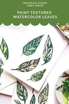 Learn to paint textured watercolor leaves in this easy to follow video in this post. Have fun, get your papers out and enjoy! Watercolor Beginner, Watercolor Tips, Watercolor Leaves, Watercolour Tutorials, Watercolour Painting, Texture Painting, Fabric Painting, Girly Games, Art Journal Inspiration