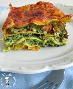 Lasagne con ricotta e spinaci delicate ma molto gustose,un primo piatto della domenica ma anche adatto per il pranzo di Natale