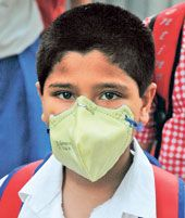 Student solidarity in mask movement Air Pollution In India, Kolkata, Student, College Students