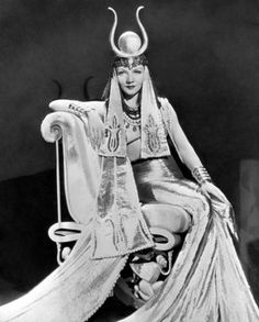 Claudette Colbert being Cleopatra in Cecil B. DeMille's 1934 film, Cleopatra