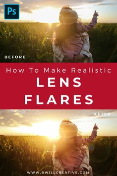 Want an easy way to enhance your photos? Try this beginner friendly tutorial walking you through how to non-destructively create a lens flare effect in Photoshop! #LensFlare #PhotoshopLensFlare #PhotoshopEffects #PhotoshopTutorials Photography Composition Rules, Implied Photography, Photography Career, Amazing Photography, Photography Tips, Photoshop Effects, Photoshop Actions, Lens Flare Effect, Gaussian Blur