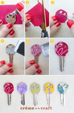 DIY-Idea-Project-Color-Coded-Key-Cover-Identifier-Keys-Craft-How-To-Tutorial