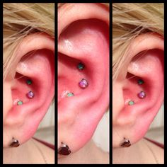 3 happy and colorful opals in an inner conch. Done by me