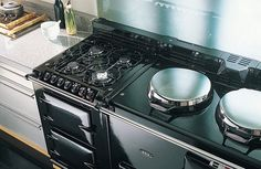 The 2-oven AGA range cooker in Pewter with Integrated Module. The best of both worlds