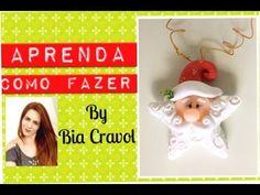 Como fazer um enfeite de natal - Estrela Papai Noel  - Bia Cravol- DIY