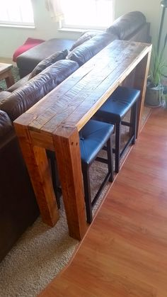DIY Sofa table made from pallet wood. #pallet #sofatable
