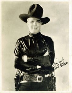 Hoot Gibson (1892 – 1962) was an American rodeo champion and a pioneer cowboy film actor. From the 1920s through the 1940s, Hoot Gibson was a major film attraction, ranking second only to Tom Mix as a western film box office draw. He successfully made the transition to talkies and as a result became a highly paid performer. He appeared in his own comic books and was wildly popular until singing cowboys such as Gene Autry and Roy Rogers displaced him.