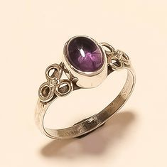 Natural Purple Brazilian Amethyst Ring 925 Sterling Silver Handmade Fine Jewelry Designer Unique Valentine Fathers Mothers Day Jewelry Gifts Handmade Rings, Handmade Silver, Handmade Jewelry, Jewelry Gifts, Fine Jewelry, Purple Band, Amethyst Gem, Natural Gemstones, Wedding Jewelry