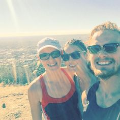 Sam HeughanVerified account ‏@SamHeughan All smiles with Balfe girls! Great hike today!! May have inspired my next @MyPeakChallenge @caitrionambalfe @ambalfe