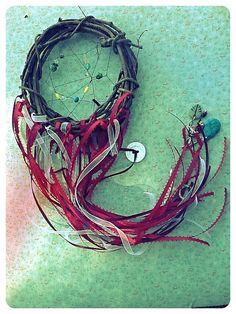 Handmade Beaded Ribbon Dream Catcher housewarming by ApachesWife, $20.02
