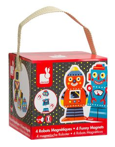 Amazon.com: Janod Robots Magnets: Toys & Games